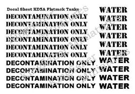 Decontamination /water tank llettering in Black & White